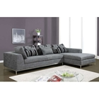 Veronica Sectional Sofa in Gray