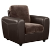 Joel Chocolate/Brown Two Tone Color Chair