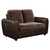Joel Loveseat - Chocolate/Brown Two Tone Color