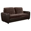 Joel Sofa in Chocolate/Brown Two Tone Color