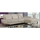 Sectional Sofa with Backrest Function, White