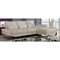Sectional Sofa with Backrest Function, White - GLO-U1350-WH-SEC