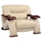 Valerie Leather Chair, Cappuccino - GLO-U2033-LV-CAP-CH