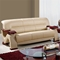 Valerie Bonded Leather Sofa in Cappuccino Upholstery, Mahogany Legs - GLO-U2033-RV-CAP-S