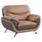 Sofa Set in Light Brown and Dark Brown - GLO-U2106-RV-SET