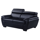 Jazmin Loveseat with Headrest, Natalie Black