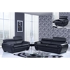 Jazmin Sofa Set with Headrest in Natalie Black