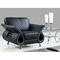 Wesley Leather Chair in Black - GLO-U559-LV-BL-CH