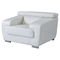 Caitlyn Sofa Set with Headrest - White - GLO-U7090-L6R-SET
