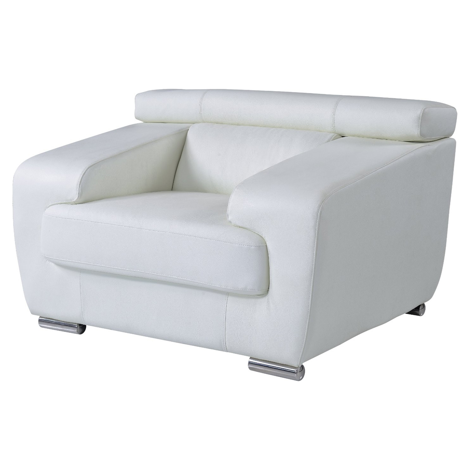 Caitlyn Chair with Headrest in White Lather