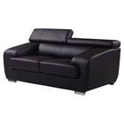 Caitlyn Loveseat with Headrest in Natalie Chocolate