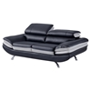 Erik Loveseat with Headrest - Black