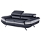 Erik Sofa Set with Headrest in Black - GLO-U7110-R6U6-SET