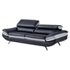 Erik Sofa with Headrest in Black