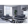 Erik Sofa Set with Headrest in Black