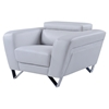 Braden Chair with Headrest in Light Gray