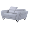 Braden Loveseat with Headrest, Light Gray
