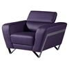 Braden Chair with Headrest in Purple