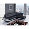 Elias 2-Piece Leather Sectional Sofa in Natalie Black/Natalie Light Gray - GLO-U7160-R6U6-2PC-SEC