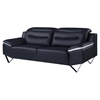Karen Leather Sofa, Black