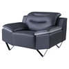 Liliana Chair in Natalie Dark Gray/Light Gray