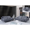 Liliana Sofa Set in Natalie Dark Gray/Light Gray