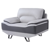Jasmin Chair in Natalie Light Gray/Dark Gray