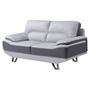 Jasmin Loveseat - Natalie Light Gray/Dark Gray