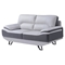 Jasmin Sofa Set - Natalie Light Gray/Dark Gray - GLO-U7330-R6U6-SET