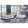 Jasmin Sofa Set - Natalie Light Gray/Dark Gray