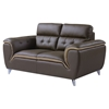 Jalen Loveseat, Dark Khaki/Natalie Cappuccino Leather
