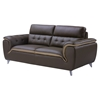 Jalen Leather Sofa in Dark Khaki/Natalie Cappuccino
