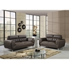 Jalen Sofa Set in Dark Khaki/Natalie Cappuccino Leather