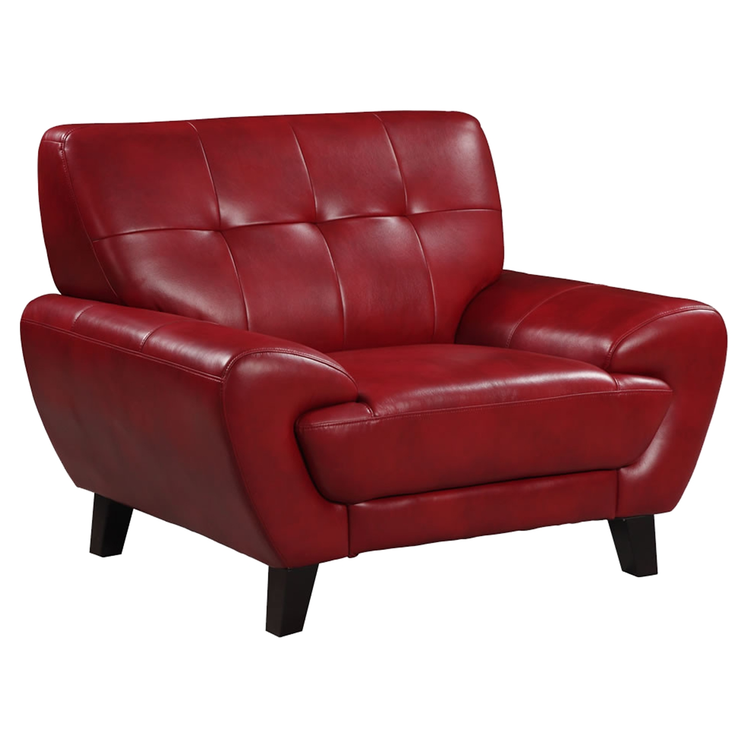 Juliana Leather Chair in Blanche Red