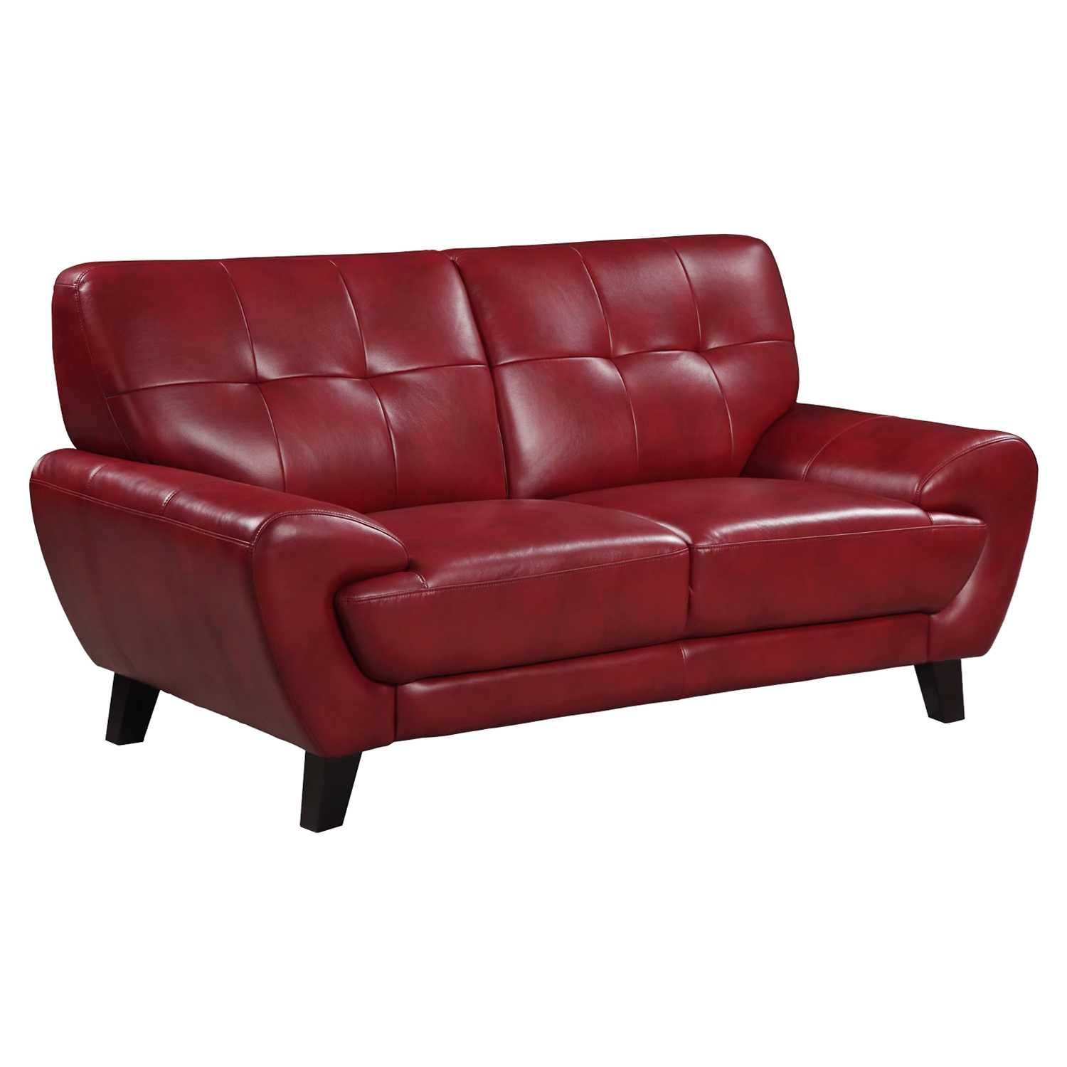 Juliana Leather Loveseat, Blanche Red