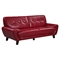 Juliana Leather Sofa Set in Blanche Red - GLO-U7400-SET