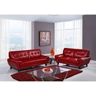 Juliana Leather Sofa Set in Blanche Red