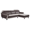 Cassandra 2-Piece Sectional Sofa - Brown/Light Gray Bonded Leather - GLO-U7480-2PC-SEC