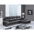Jayla 2-Piece Bonded Leather Sectional Sofa in Natalie Light Gray