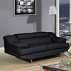 Charlotte Loveseat - Black Leather