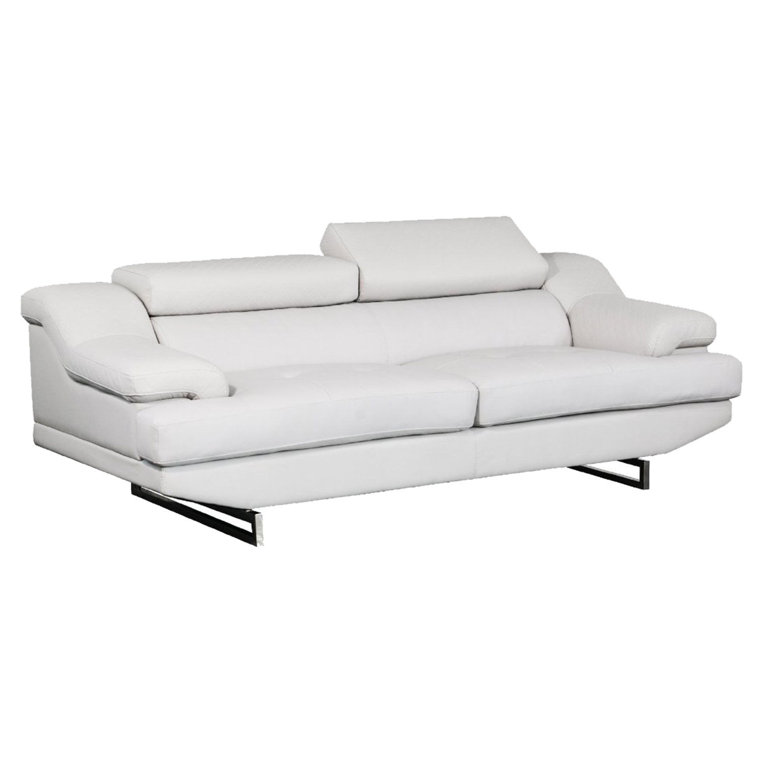 Charlotte Sofa in Light Gray Leather