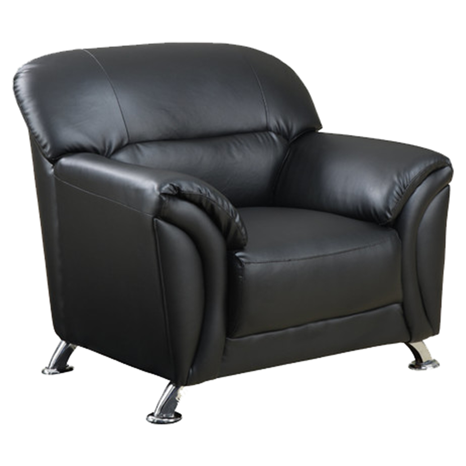 Maxwell Chair - Black Leather Look