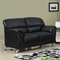 Maxwell Loveseat in Black Leather Look - GLO-U9103-BL-L-M