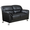 Maxwell Loveseat in Black Leather Look