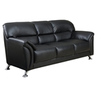 Maxwell Leather Look Sofa, Black