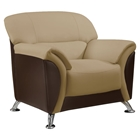 Maxwell Chair in Cappuccino/Chocolate