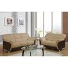 Maxwell Sofa Set in Cappuccino/Chocolate