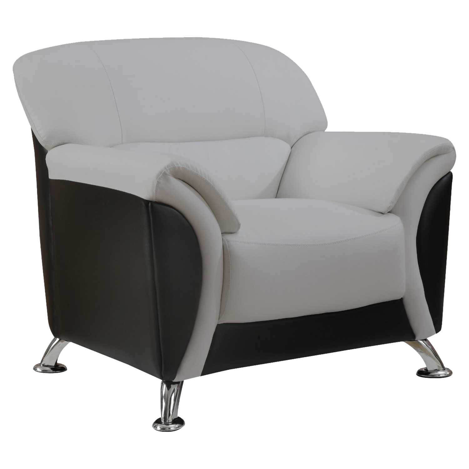 Maxwell Light Gray/Black Chair