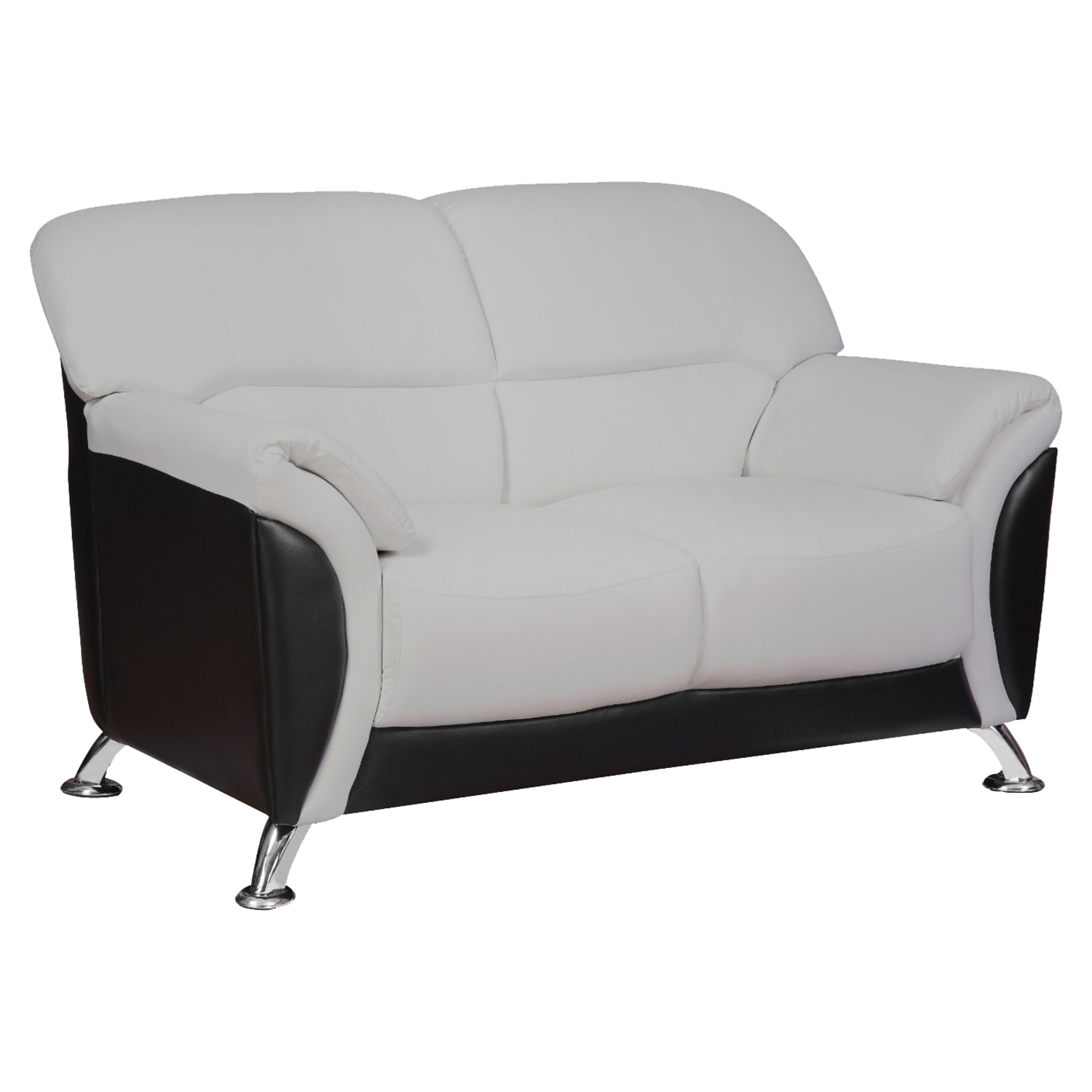 Maxwell Loveseat in Light Gray/Black