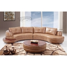 Leather 2-Piece Sectional Sofa in Honey